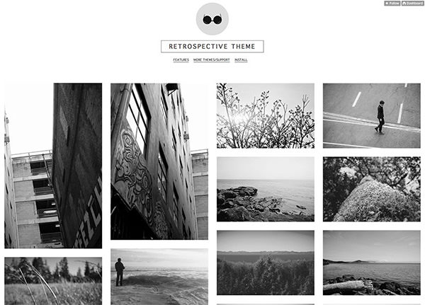 Retrospective - Grid Tumblr Theme