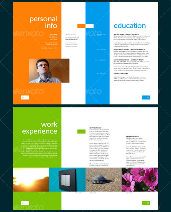 8-Seitiges Resume Template