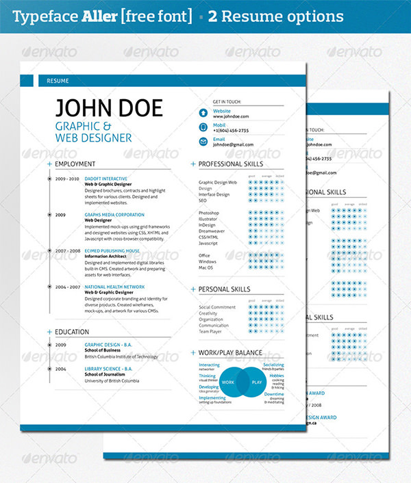 Swiss-Style Resume Template