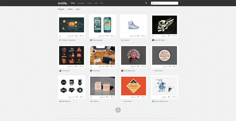 Dribbble - Popular Design Inspiration