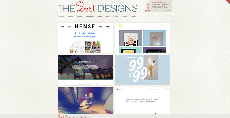 TheBestDesigns - Webdesign Inspiration Showcase