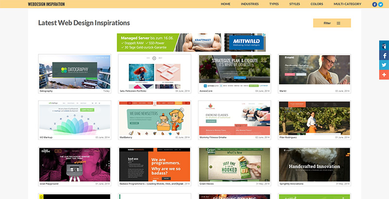 Webdesign Inspiration Gallery