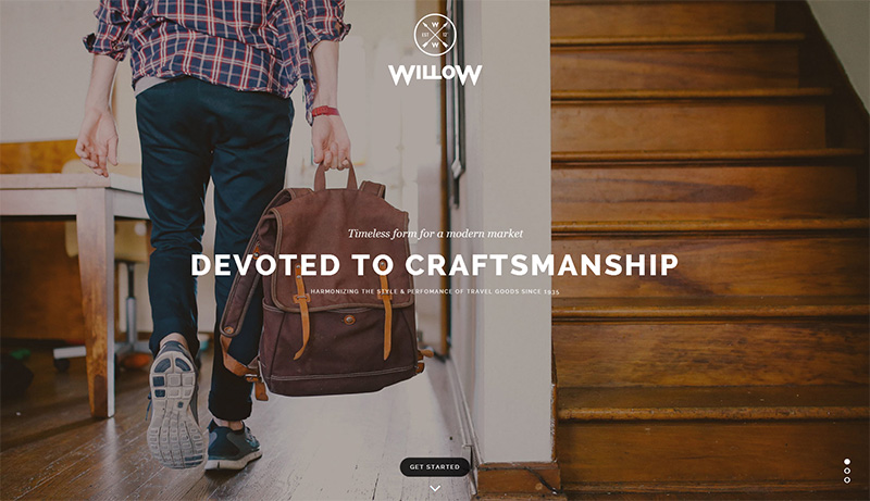 Modernes One Page WordPress Theme - Willow