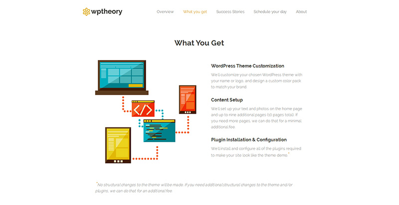 Minimales Webdesign & One-Page Website - WPTheory