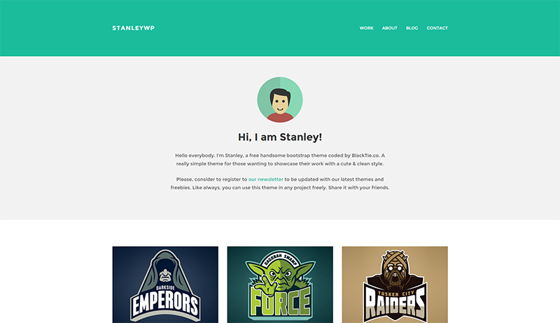 Free WordPress Portfolio Theme mit Flat Design