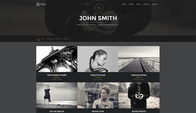Professionelles WordPress Photography & Portfolio Theme