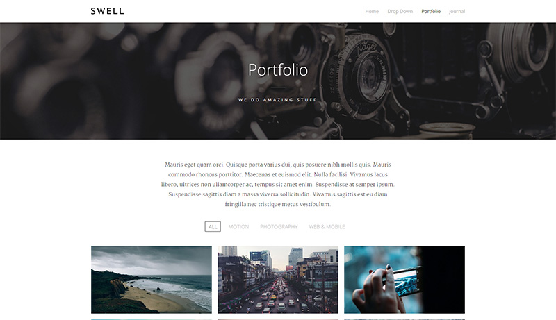 Einfaches WordPress Portfolio One-Page Theme
